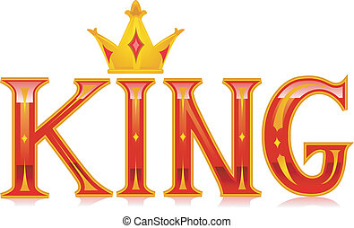 Text Illustration Featuring the Word King