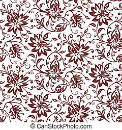 Floral abstract pattern. Full scalable vector graphic included Eps v8 and 300 dpi JPG.