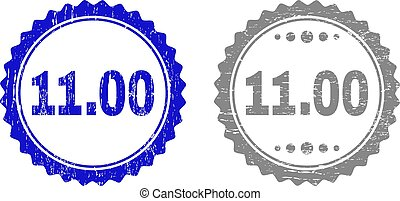 Textured 11.00 Scratched Stamp Seals with Ribbon