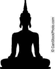 Thai sitting Buddha.