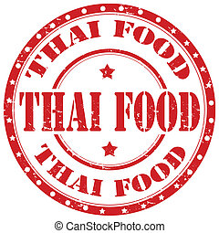 Grunge rubber stamp with text Thai Food, vector illustration