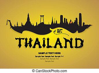 thailand travel design vector