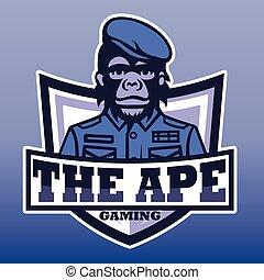 The ape gaming, E sport  vector logo