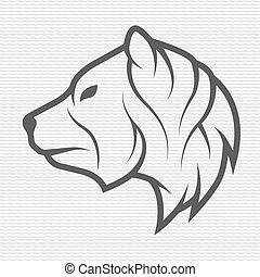 The bear symbol, logo, emblem.