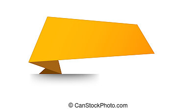 The blank orange folded label