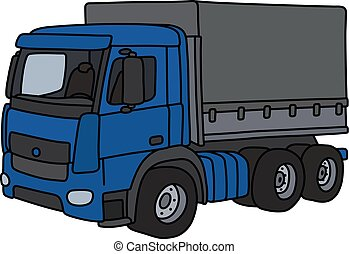 The blue cargo truck