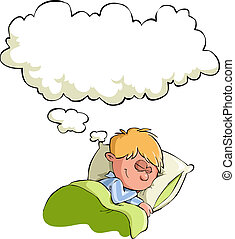 The boy has a dream, vector illustration