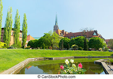 The Church of the Holy Cross (St. Bartholomew's) in Wroclaw, Poland