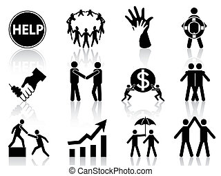 the concept of business help icons