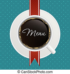 The concept of coffeehouse menu.