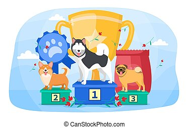 The concept of dog show and competition