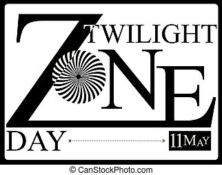The festive day of May 11 is Twilight Zone Day. Vector illustration for date.