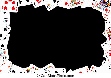 the gambling frame made from poker cards
