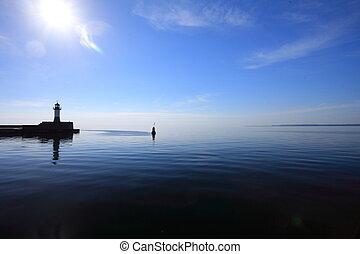The lighthouse in Sassnitz Ruegen Island Germany