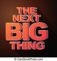 The next big thing coming soon announcement 3d illustration isolated brown background