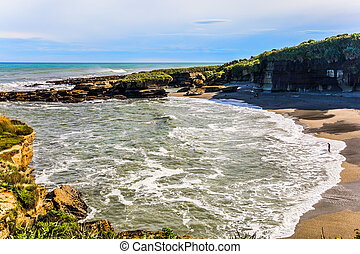 The Pacific coast of the South Island