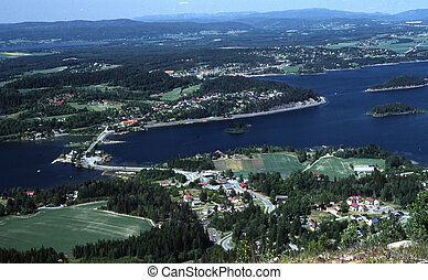 The Queens view in Hole in Buskerud county in Norway.