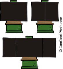 The set of blackboards