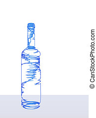 The stylized bottle