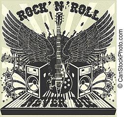 The vector image of Rock n Roll never die