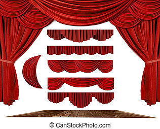 Theater STage Drape Elements to Create Your Own Background