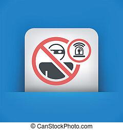 Thief alarm concept icon