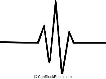 Thin heartbeat line