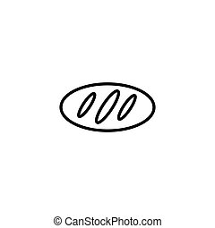 bread icon on the white background