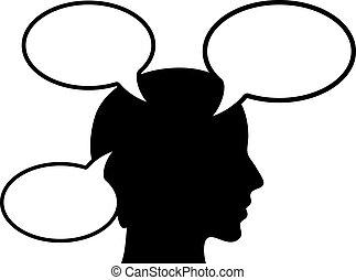 Thinking person, vector illustration