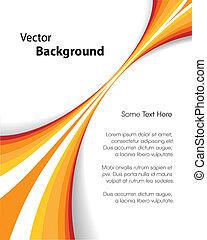 Orange Brochure Background