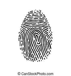 This is a handdrawn illustration of fingerprint