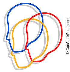 Creative design of people faces icon