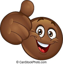 Thumb up African emoticon