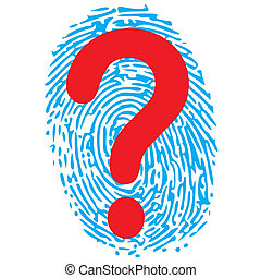 thumbprint and question mark