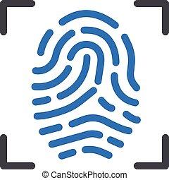thumbprint vector glyph colour icon