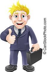 Thumbs up businessman
