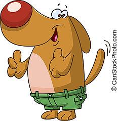 Thumbs up dog