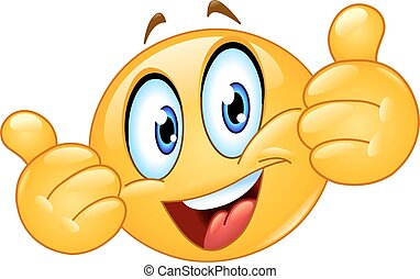 Emoticon showing thumbs up