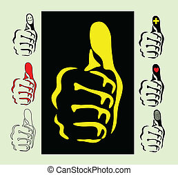 Thumbs vector illustration