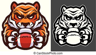 Tiger American Football Mascot