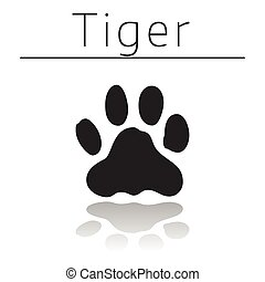 Tiger animal track