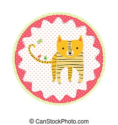 Tiger badge emblem