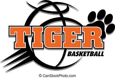tiger basketball design