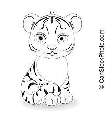 tiger cub coloring book
