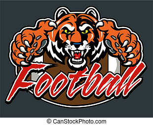 tiger football design