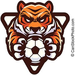 Tiger Football Soccer Mascot