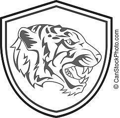 Tiger Head Mascot Tattoo