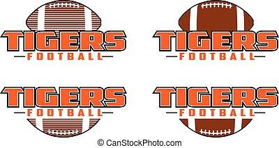 Tigers Football Design