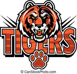 tigers mascot design