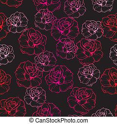 Tile vector floral pattern